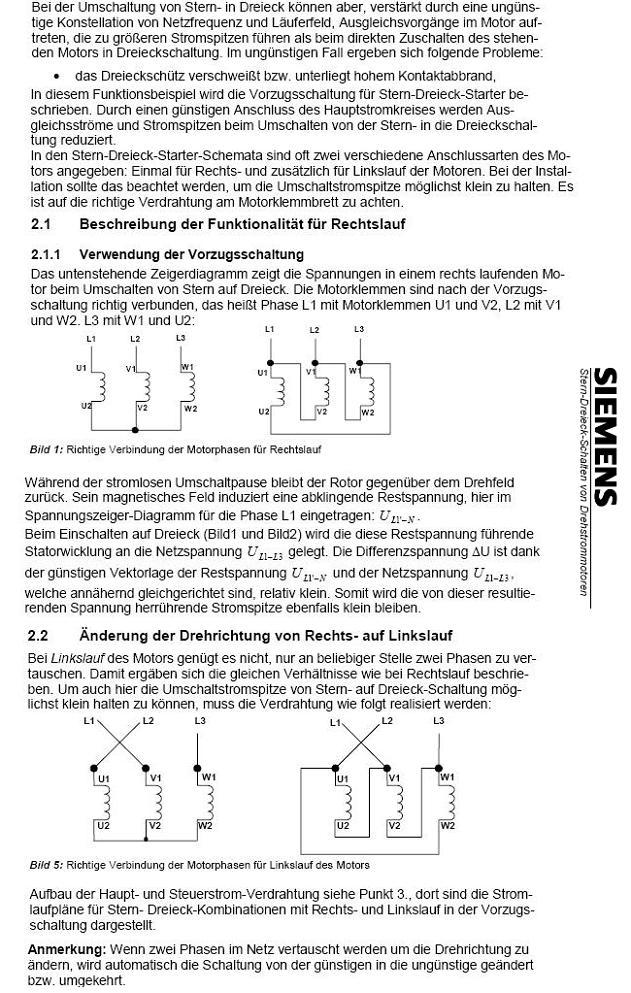 Wendeschütz-/ Stern-Dreieck-Schaltung mit SPS - diesteckdose.net
